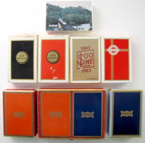 4: 8 Decks of Railroad Playing Cards