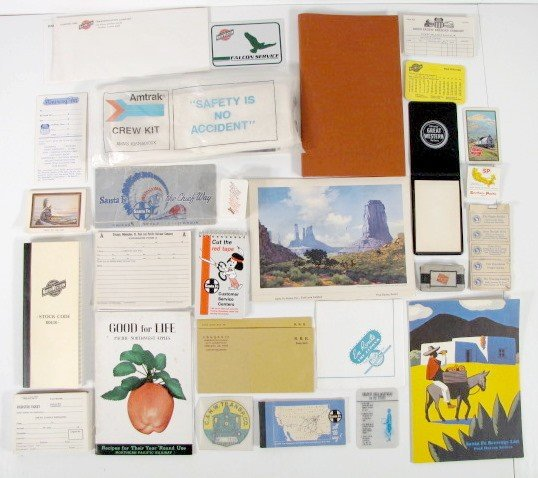 12: Group of Assorted Railroad Paper Memorabilia