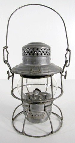 17: N.P. RY Clear Railroad Lantern