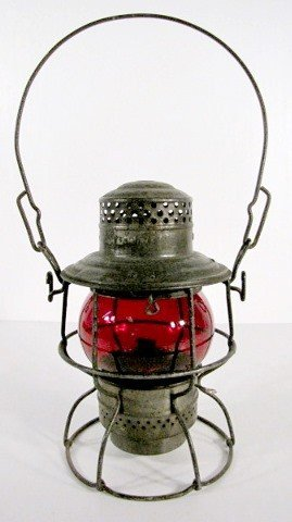 19: P.R.R. Red Globe Railroad Lantern