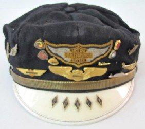 Vintage HARLEY DAVIDSON leather motorcycle hat cap USA ...  |Vintage Harley Davidson Hats