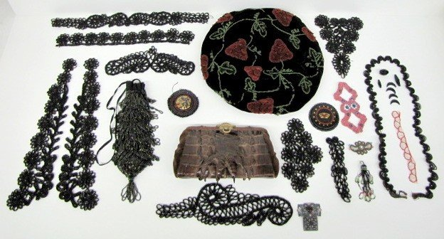 3A: Ladies Purse, Hat & Beaded Decoration