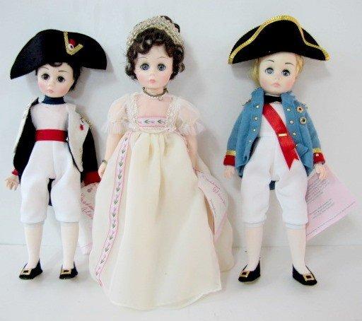 6: 3 Madame Alexander Historic Dolls