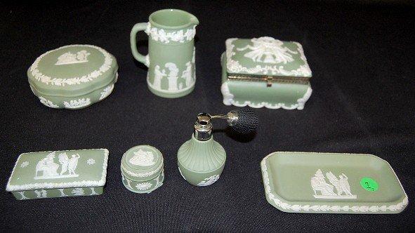 7: 6 Wedgwood & 1 Other Jasperware Items