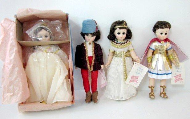 8: 4 Madame Alexander Romantic Dolls