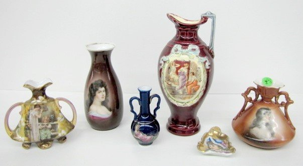 9: 5 Portrait Vases & 1 Pin Tray