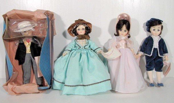 10: 4 Madame Alexander Dolls: Rhett, Blue Boy, Plus