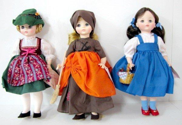 14: 3 Madame Alexander Dolls: Cinderella, Heidi, Plus