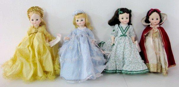 16: 4 Madame Alexander Dolls: Scarlett, Snow White, +