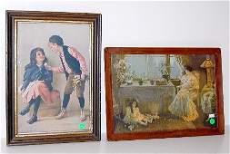 221A: 2 Framed Prints w/Children Themes