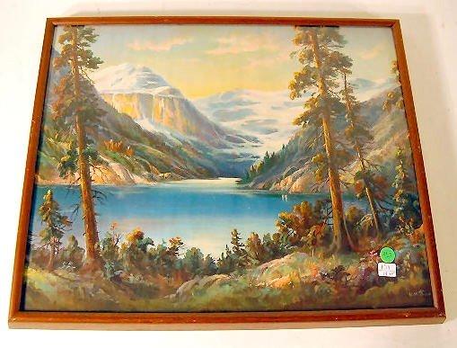 282: 2 Wm. Thompson Prints: Lake Louise & Moonlight - 2