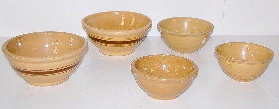 1: 5 Stoneware Saffron Mixing Bowls