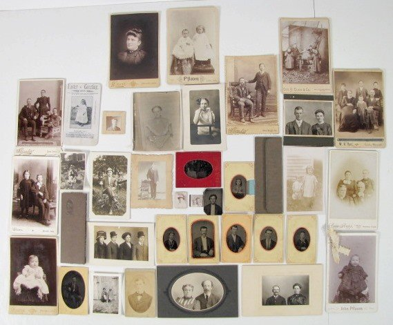 3A: Group of 34 Tin Types & Photo Images