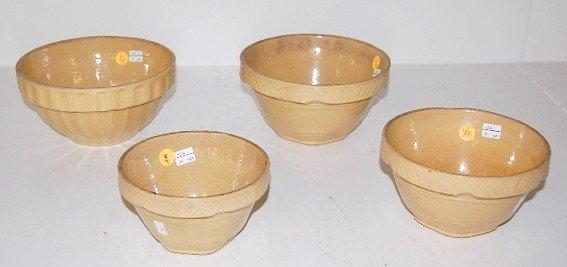 5: 4 Stoneware Saffron Mixing Bowls