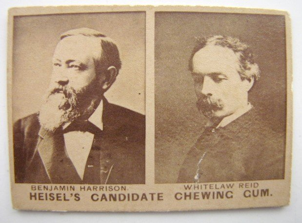 7: Heisel's Candidate Chewing Gum Political Card