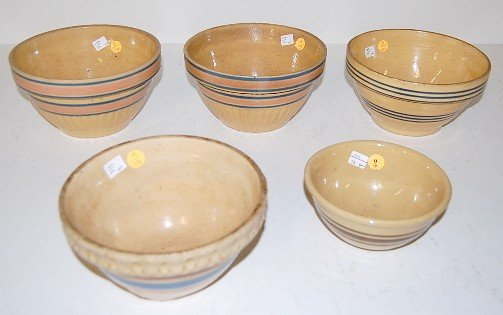 9: 5 Stoneware Saffron Mixing Bowls