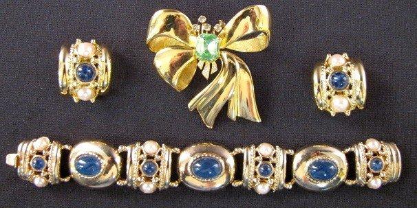 10A: 3pc. Joan Rivers Rhinestone Costume Jewelry