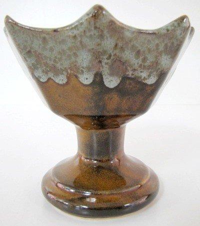 11: Van Briggle Mottled Glaze Pottery Compote