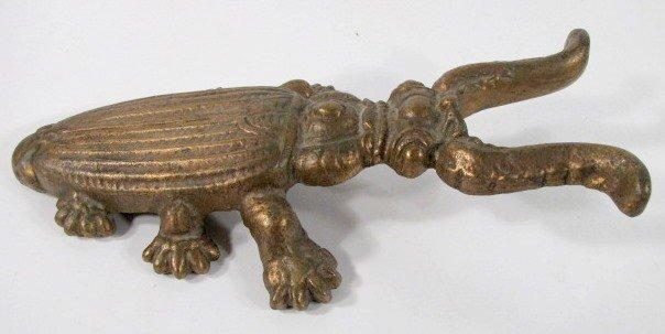 19: Cast Brass Beetle Form Boot Jack