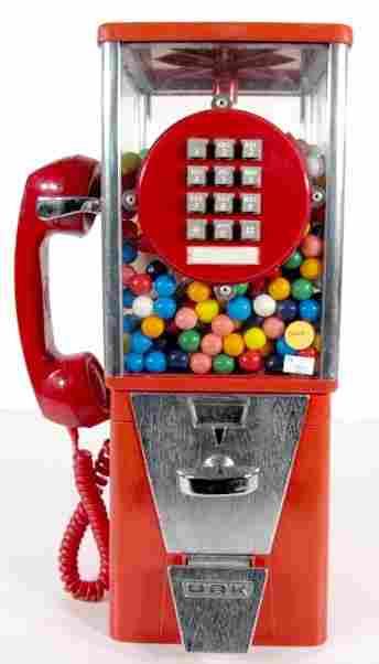 Paul Nelson Industries Telephone/Gumball Machine