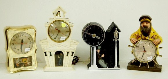 14: 4 Mastercrafters Electric Novelty Clocks