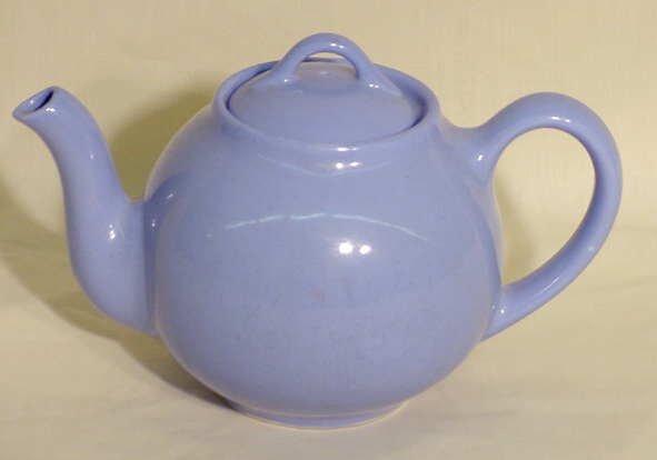 1: Lipton Tea Pottery Teapot with Blue Glaze NR
