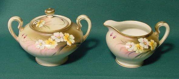 14: HP Nippon Floral Décorated Sugar & Creamer NR