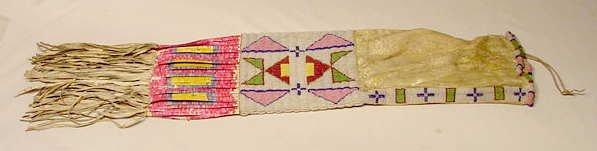 103: Beaded Native American Pipe Bag 1800-Early 1900