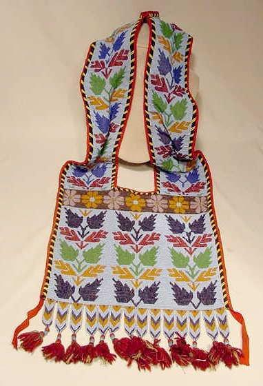 106: Beaded Native American Bandoleer Bag NR