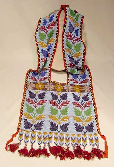 106: Beaded Native American Bandoleer Bag NR
