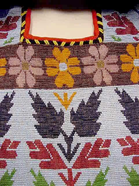 106: Beaded Native American Bandoleer Bag NR - 3