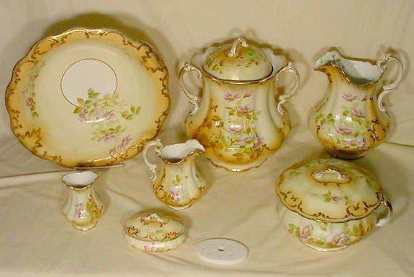 366: 7 pc W.M. Co. Semi Porcelain Wash Set NR - 2