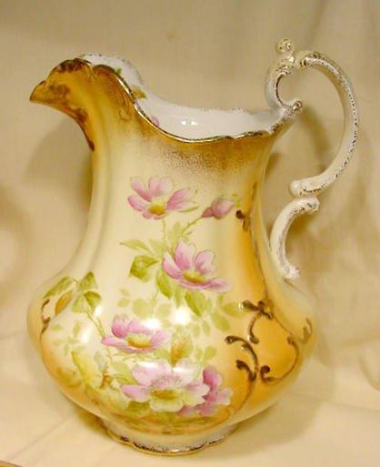 366: 7 pc W.M. Co. Semi Porcelain Wash Set NR - 4