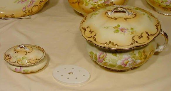 366: 7 pc W.M. Co. Semi Porcelain Wash Set NR - 5