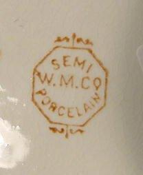 366: 7 pc W.M. Co. Semi Porcelain Wash Set NR - 9