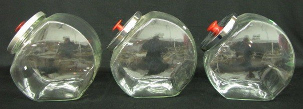 2: 3 Clear Countertop Candy Jars