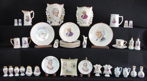 12: 40 Pieces George & Martha Washington China