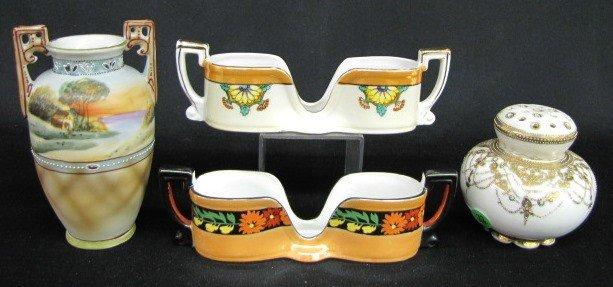 22: 4 Nippon & Noritake Hand Painted China Items