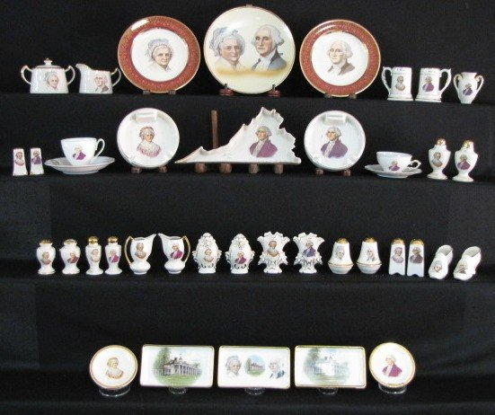 36: 40 Pieces George & Martha Washington China