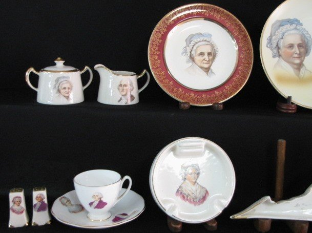 36: 40 Pieces George & Martha Washington China - 2
