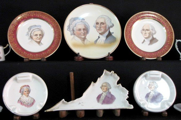 36: 40 Pieces George & Martha Washington China - 3