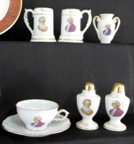 36: 40 Pieces George & Martha Washington China - 4