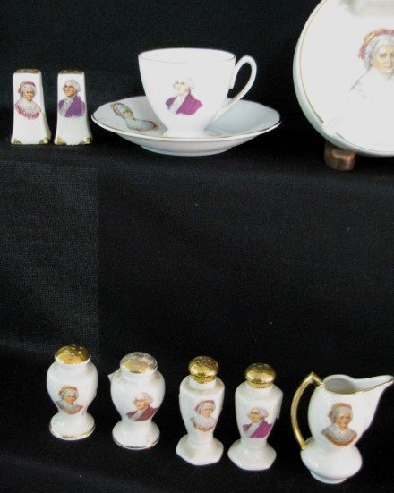 36: 40 Pieces George & Martha Washington China - 6