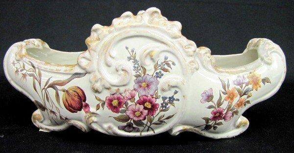 108: E. Galle, Nancy Porcelain Floral Center Bowl