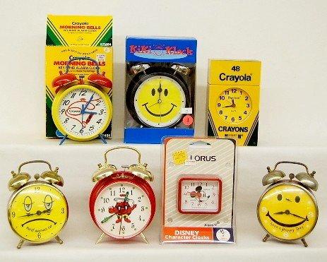 1: 7 Collectible Alarm Clocks: Mickey, Kool Aid +
