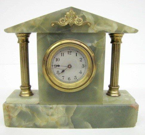 2: German Green Onyx Dresser Clock