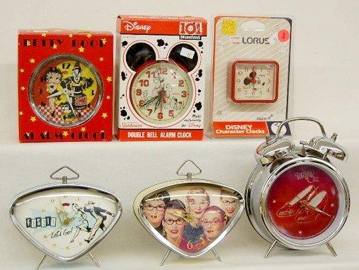 3: 6 Collectible Alarm Clocks: Betty Boop & More