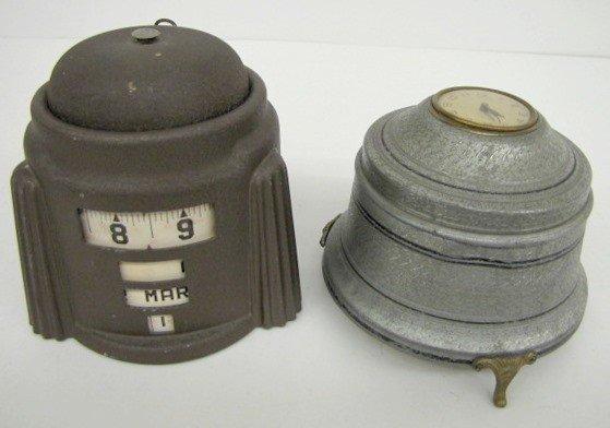 6: Metal Desk & Powder Box Clock