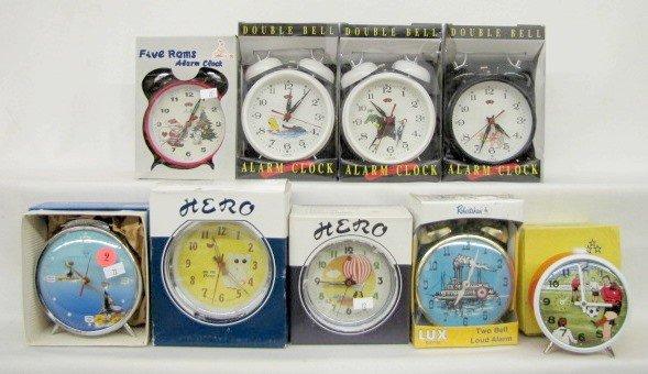 9: Group of 9 Animated Alarm Clocks