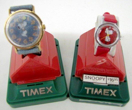 10B: 2 Timex Snoopy Wrist Watches